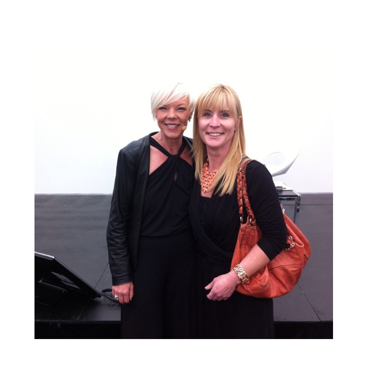 Jo and Tabatha Coffey at the 2014 Sydney Hair Expo