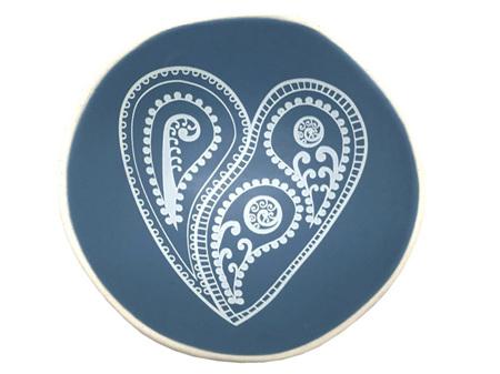 Jo Luping Design Aroha Paisley Blue 7cm Porcelain Bowl