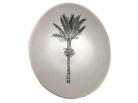 Jo Luping Design Black Nikau on White Porcelain 10cm Bowl