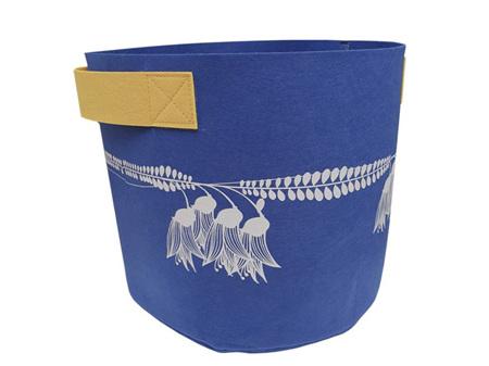 Jo Luping Design Kowhai Blue & Yellow 7 Gallon Ecofelt Bag