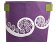 Jo Luping Design Ponga Purple and Green 7 Gallon Ecofelt Bag