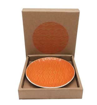 Jo Luping Plate 12cm - Kowhai - Burnt Orange NZJLP1204