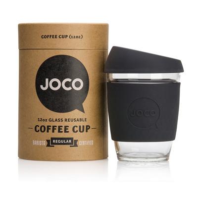 Joco Glass Travel Cup Black 355 - 455 mls