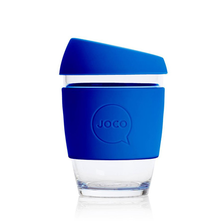 Joco Glass Travel Cup Cobalt Blue