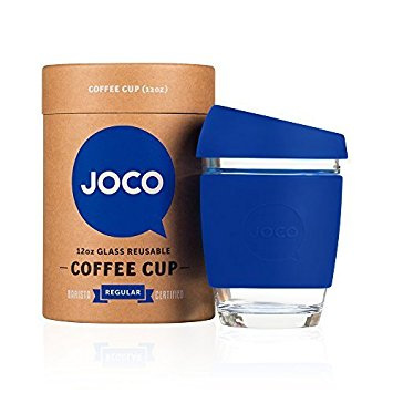 Joco Glass Travel Cup Cobalt Blue 355 mls