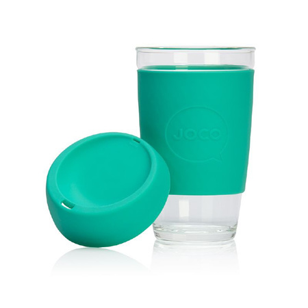 Joco Glass Travel Cup  Mint