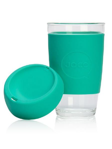 Joco Glass Travel Cup  Mint