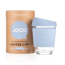 Joco Glass Travel Cup Pale Blue  355 mls