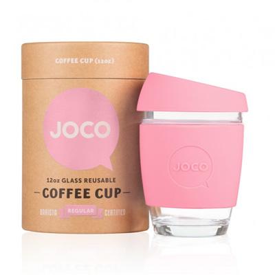 Joco Glass Travel Cup Strawberry 355 - 455 mls