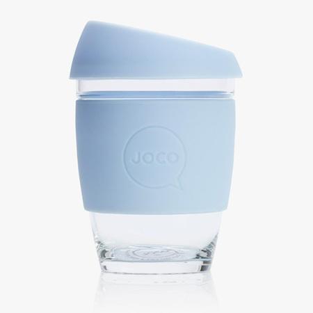 Joco Glass Travel Cup Vintage Blue
