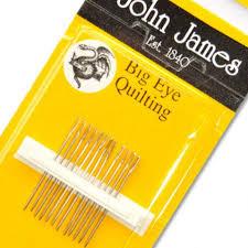 John James Needles Big Eye Quilting Size 10