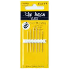 John James Needles Easy Threading Size 4/8