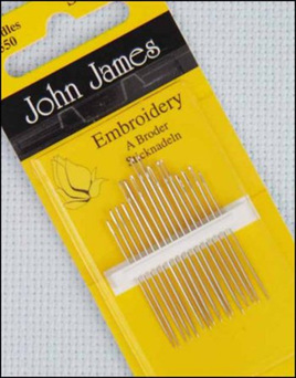 John James Needles Embroidery A Broder Size 8