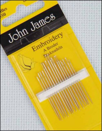 John James Needles Embroidery A Broder Size 9