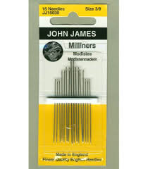 John James Needles Milliners Size 3/9