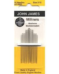 John James Needles Milliners Size 5/10