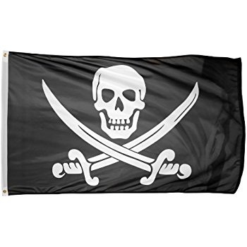 Pirate Skull & Crossbones Flag