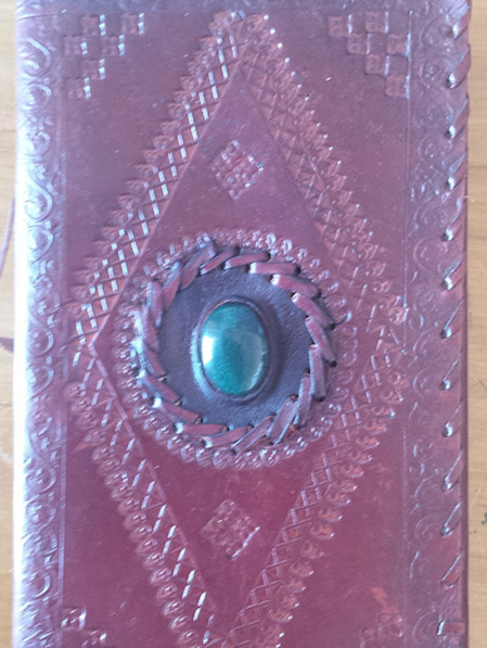 Journal 6B - Larger Sized Journal with Stone and Etching