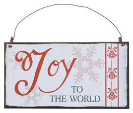 JOY to the World Metal Sign