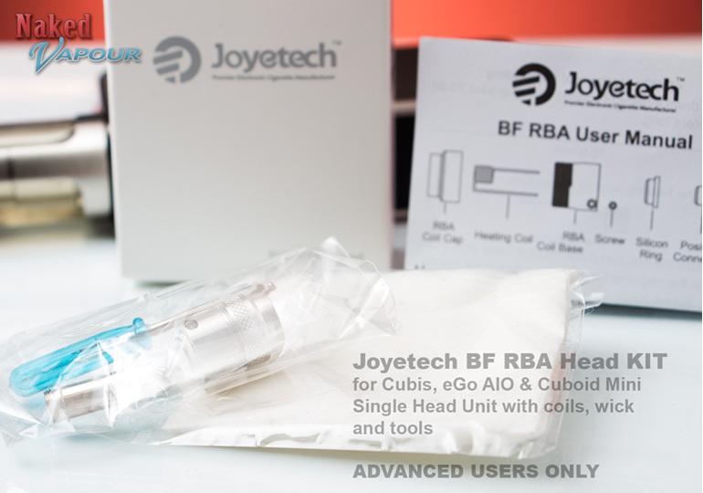 Joyetech BF RBA Head KIT for Cubis, eGo AIO & Cuboid Mini  Single Head Unit