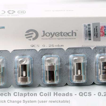 Joyetech Clapton Coil Heads - QCS - 0.25ohm  - 5 Pack