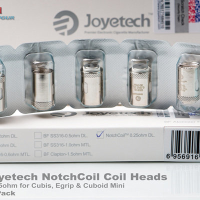 Joyetech NotchCoil Coil Heads - 0.25ohm for Cubis, Egrip  & Cuboid Mini - 5 Pack