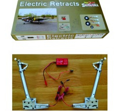 JP Hobby Electric Retract Set 3pcs (Mains/Tail) for SKYRAIDER 100 degree rotating with PU 5in wheels