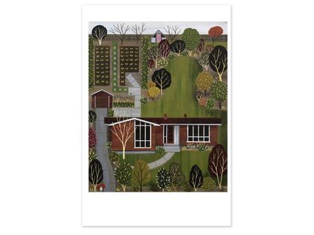 Julia Christian Mid Century House Card