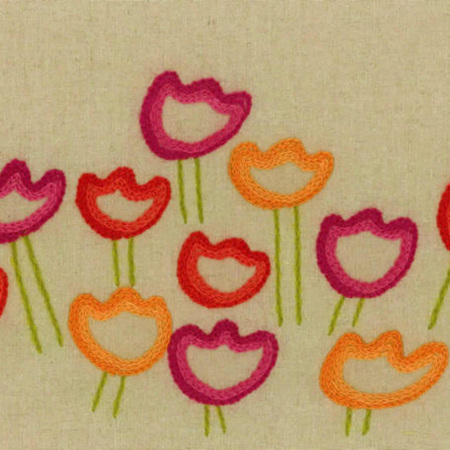 Julianna Tulips Embroidery By Mary Self