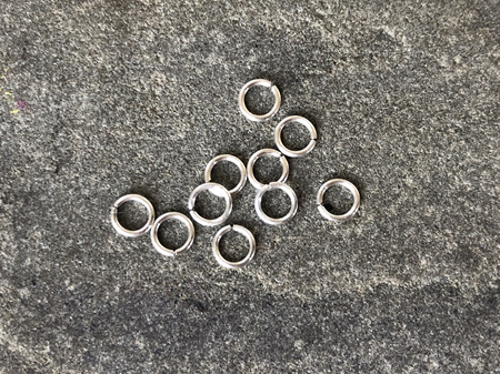 Jumprings - .7mm - Sterling silver - 3.0mmID/4.3mmOD
