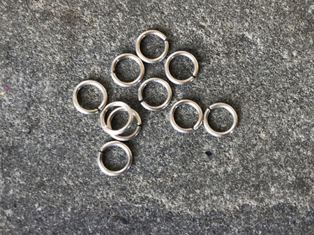 Jumprings - .8mm - Sterling silver - 4.0mmID/5.5mmOD