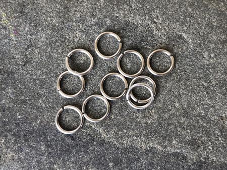 Jumprings - .8mm - sterling silver - 5.0mmID/6.5mmID