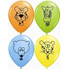 Jungle animals balloon latex x 1