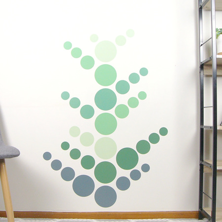 Jungle Green dots wall decal