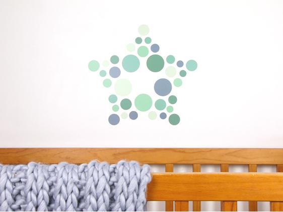 Jungle Green dots wall decal
