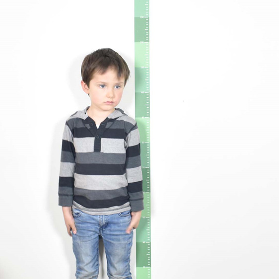 Jungle Green skinny height chart wall decal