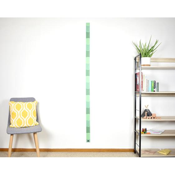 Jungle Green skinny height chart wall decal