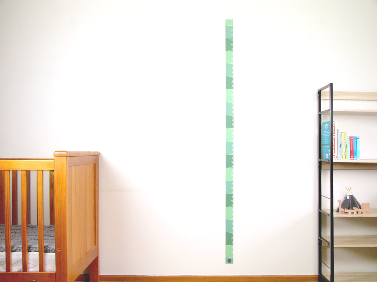 Jungle green skinny height chart wall decal stickytiki skinny height charts are a great way to record your childs growth put it on a wall or door frame and write on it each time amipublicfo Gallery