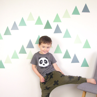 Jungle Green triangles wall decal