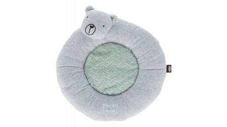 Junior Lying Mat Bear 40cm Grey/Mint