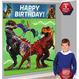 Jurassic World Scene Setter Kit Happy Bithday