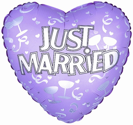 """Just Married Superloon 17"""""""