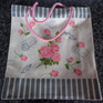 Jute Carry Bag - Rose