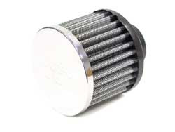 K&N Breather Filter 1.25' (32mm) Inlet 2.5' (64mm) Long
