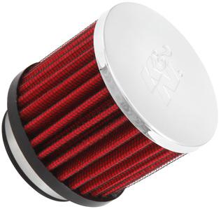 K&N Breather Filter 1.75' (44 mm) Inlet. 2.5' (64mm) Long