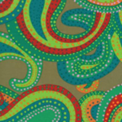 Kaffe Fassett Collective - Dancing Paisley Green