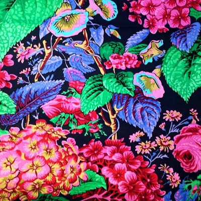 Kaffe Fassett Collective - Rose and Hydrangea Navy