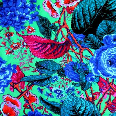 Kaffe Fassett Collective - Rose & Hydrangea Blue