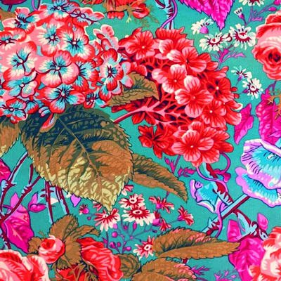 Kaffe Fassett Collective - Rose & Hydrangea Green