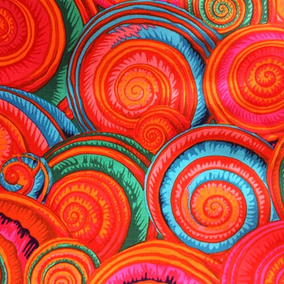 Kaffe Fassett Collective - Spiral Shells Orange